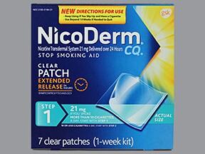 Nicoderm CQ 21 mg/24 hr daily transdermal patch