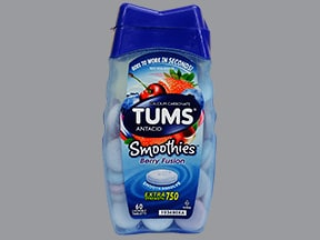 Tums Extra Strength Smoothies 300 mg (750 mg) chewable tablet