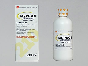 Mepron 750 mg/5 mL oral suspension