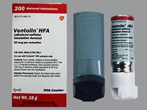 Ventolin HFA 90 mcg/actuation aerosol inhaler