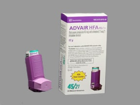 Advair HFA 45 mcg-21 mcg/actuation aerosol inhaler