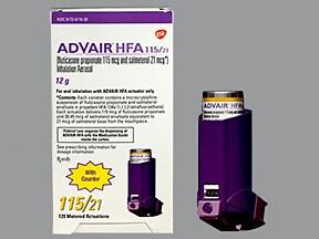 Advair HFA 115 mcg-21 mcg/actuation aerosol inhaler