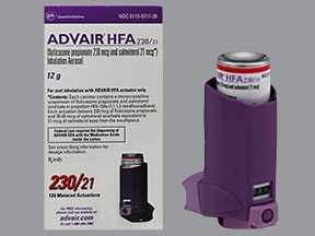 Advair HFA 230 mcg-21 mcg/actuation aerosol inhaler