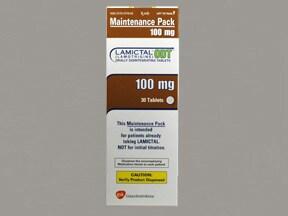 Lamictal ODT 100 mg disintegrating tablet