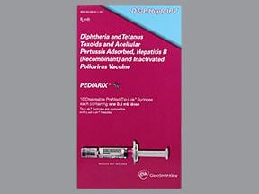 Pediarix (PF) 10 mcg-25 Lf-25 mcg-10 Lf/0.5 mL intramuscular syringe