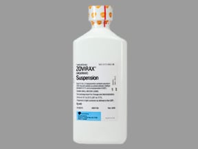 Zovirax 200 mg/5 mL oral suspension