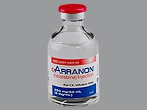 Arranon 250 mg/50 mL intravenous solution