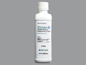 Rezira 60 mg-5 mg/5 mL oral solution