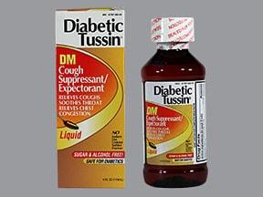 Diabetic Tussin DM 10 mg-100 mg/5 mL oral liquid
