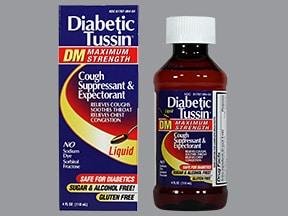 Diabetic Tussin DM 10 mg-200 mg/5 mL oral liquid