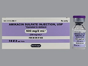 amikacin 500 mg/2 mL injection solution
