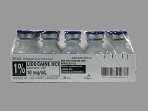lidocaine 10 mg/mL (1 %) injection solution