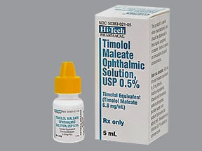 Timolol maleate Drops : Uses, Side Effects, Interactions