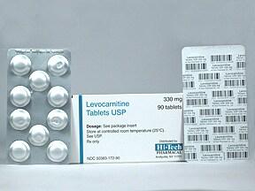 levocarnitine 330 mg tablet