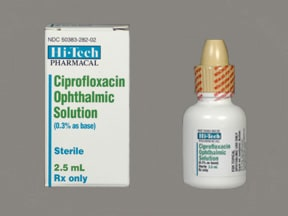 Ciprofloxacin hydrochloride ophthalmic solution expired antibiotics