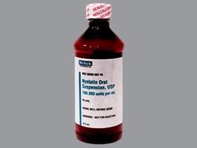 nystatin 100,000 unit/mL oral suspension