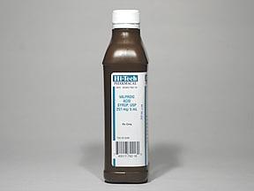 valproic acid (as sodium salt) 250 mg/5 mL oral solution