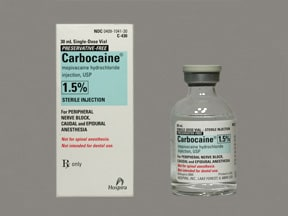 Carbocaine (PF) 15 mg/mL (1.5 %) injection solution