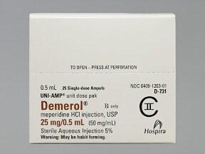 Demerol (PF) 25 mg/0.5 mL injection solution
