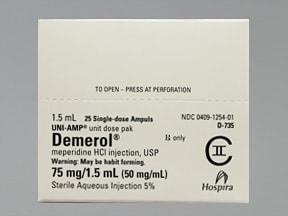 Demerol (PF) 75 mg/1.5 mL injection solution