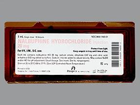 nalbuphine 20 mg/mL injection solution