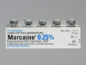 Marcaine (PF) 0.25 % (2.5 mg/mL) injection solution