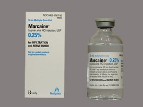 Marcaine 0.25 % (2.5 mg/mL) injection solution