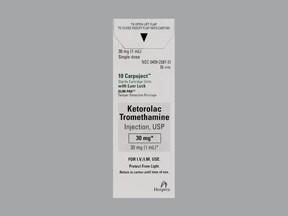 ketorolac 30 mg/mL injection cartridge