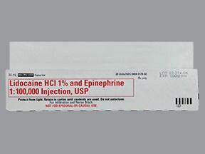 lidocaine-epinephrine 1 %-1:100,000 injection solution