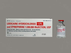 lidocaine 1.5 %-epinephrine 1:200,000 injection solution