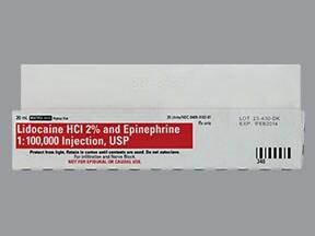 lidocaine 20 mg/mL (2 %)-epinephrine 1:100,000 injection solution