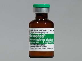 Levophed 1 mg/mL intravenous solution