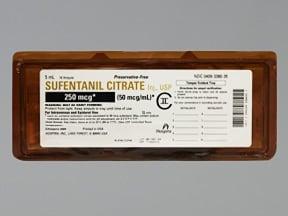 sufentanil citrate 50 mcg/mL intravenous solution