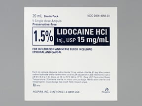 lidocaine (PF) 15 mg/mL (1.5 %) injection solution