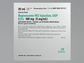 bupivacaine (PF) 0.5 % (5 mg/mL) injection solution