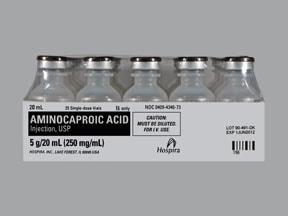 aminocaproic acid 250 mg/mL intravenous solution