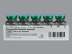 pancuronium 1 mg/mL intravenous solution