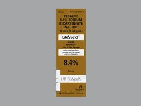 sodium bicarbonate 10 mEq/10 mL (8.4 %) intravenous syringe