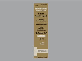 epinephrine 0.1 mg/mL injection syringe