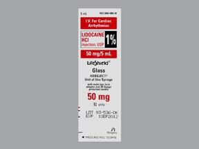 lidocaine (PF) 50 mg/5 mL (1 %) intravenous syringe