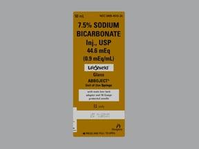sodium bicarbonate 7.5 % (0.9 mEq/mL) intravenous syringe