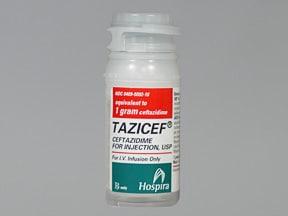 TAZICEF 1 gram intravenous solution