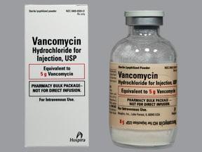 vancomycin 5 gram intravenous solution