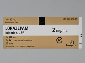 lorazepam 2 mg/mL injection solution