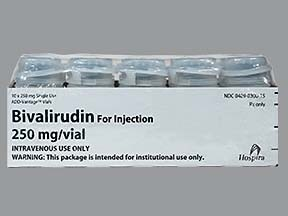 bivalirudin 250 mg intravenous solution