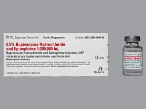 bupivacaine-epinephrine (PF) 0.5 %-1:200,000 injection solution