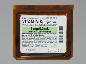 vitamin K 1 mg/0.5 mL injection solution
