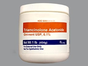triamcinolone acetonide 0.1 % topical ointment
