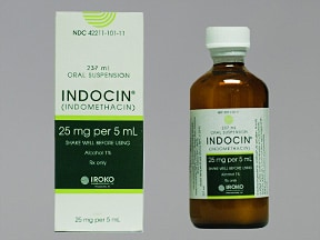 Indocin 25 mg/5 mL oral suspension