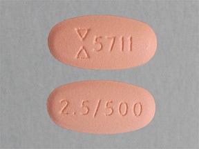 glyburide 2.5 mg-metformin 500 mg tablet
